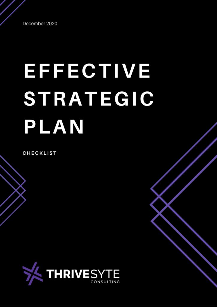 Thrivesyte Effective Strategic Planning Checklist